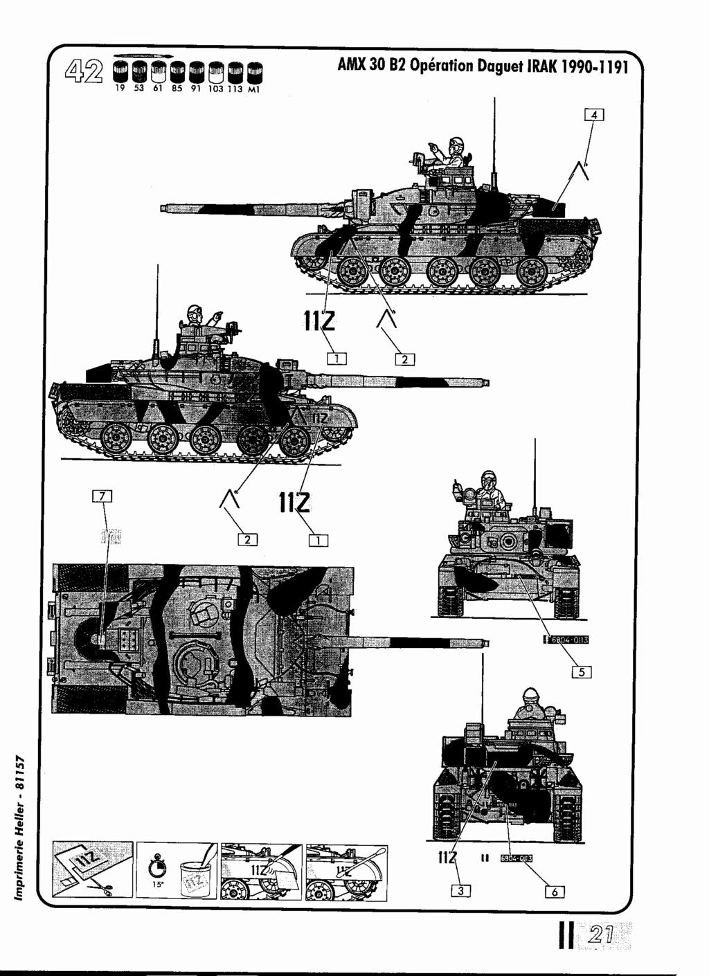 "[HELLER] AMX 30 B2 ""Opération DAGUET"" (UPGRADE) 1/35ème Réf 81157 Notice38"