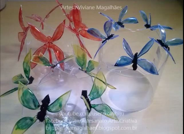 Bonitas mariposas en botellas de pet Captur11
