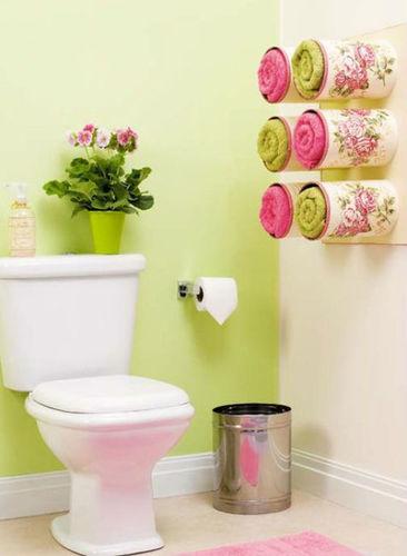 Porta toallas decorativo reciclado para el baño Po2gpt10