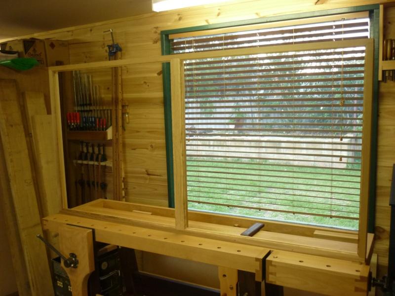 Réalisation d'une fenêtre à châssis fixe. P1050634