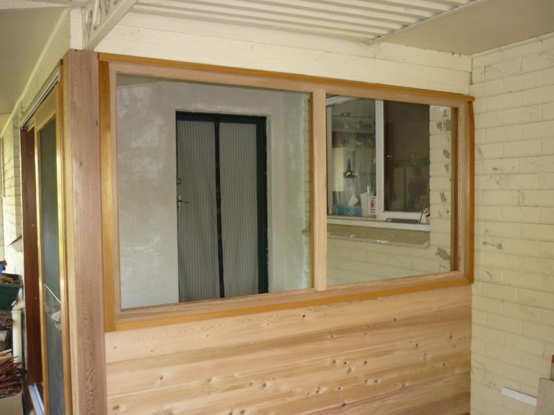 Réalisation d'une fenêtre à châssis fixe. P1050639