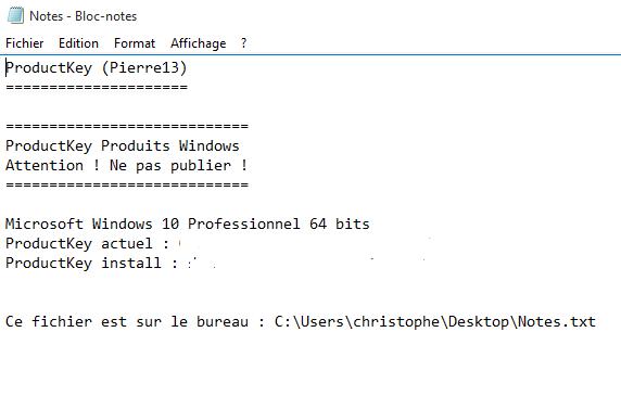 Comment récupérer la clé Windows 10 Cly_pr19
