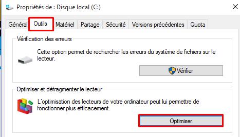 Désactiver la défragmentation sous Windows 10 Dysact12