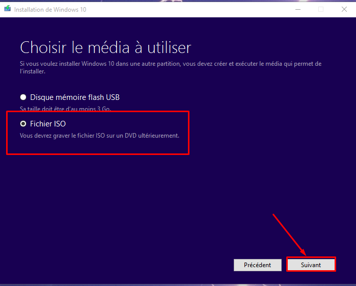 Comment créer un ISO de Windows 10 Fichie11