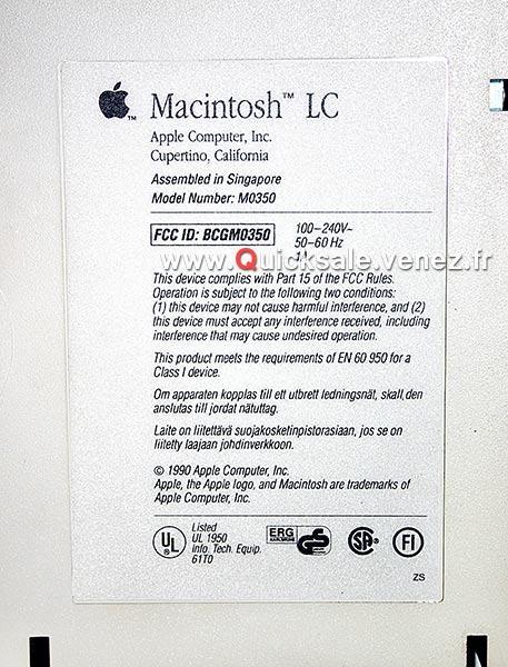 [VENDU] Apple Macintosh LC de 1990 -  95€ Macint10