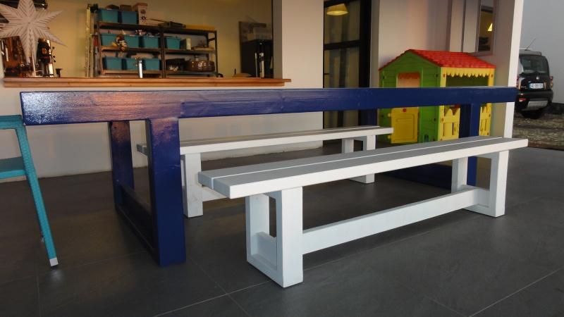 [TERMINE] Fabrication table en bois peint - polycarbonate pour terrasse - Page 2 Dsc00611