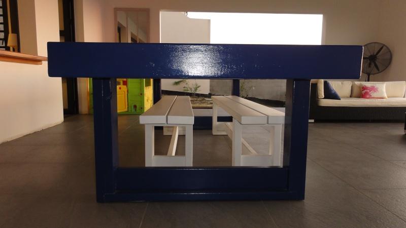 [TERMINE] Fabrication table en bois peint - polycarbonate pour terrasse - Page 2 Dsc00710