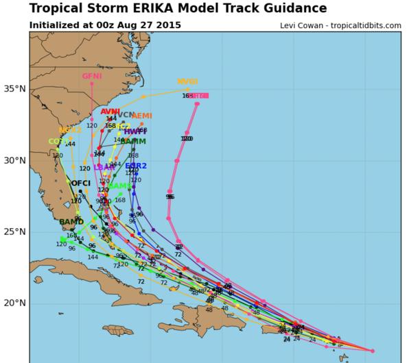 *BLOG* Tropical Storm Erika 0z10