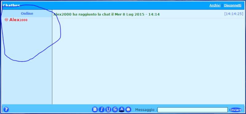 Problema alla ChatBox Screen18