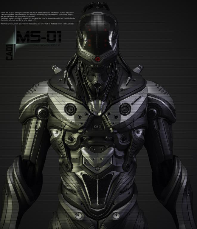 Fécanix, robot assassin. Armure11