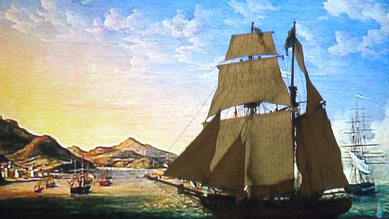 LA TOULONNAISE, goelette de 1823 au 1/75 par parellum, sous voiles, et photos Musée de la Marine Cadixf11