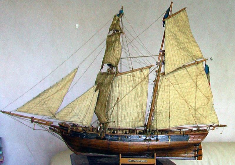 LA TOULONNAISE, goelette de 1823 au 1/75 par parellum, sous voiles, et photos Musée de la Marine Imga0017