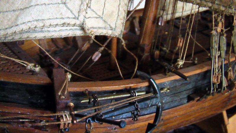 LA TOULONNAISE, goelette de 1823 au 1/75 par parellum, sous voiles, et photos Musée de la Marine Imga0019