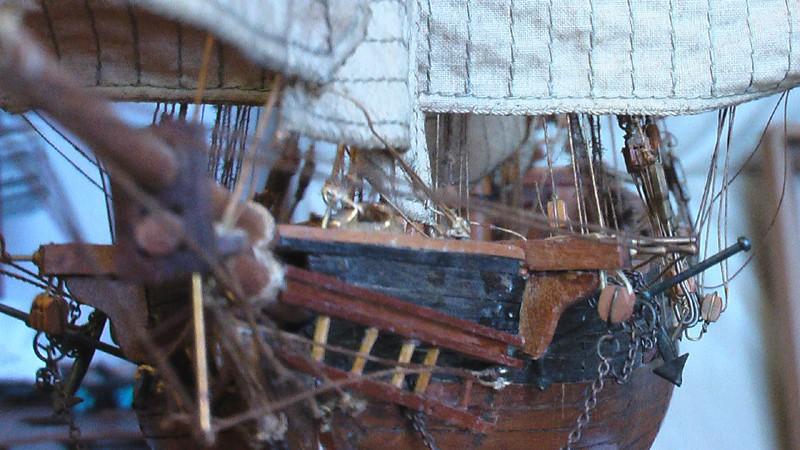 LA TOULONNAISE, goelette de 1823 au 1/75 par parellum, sous voiles, et photos Musée de la Marine Imga0911