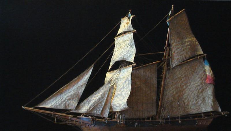 LA TOULONNAISE, goelette de 1823 au 1/75 par parellum, sous voiles, et photos Musée de la Marine Imga0912