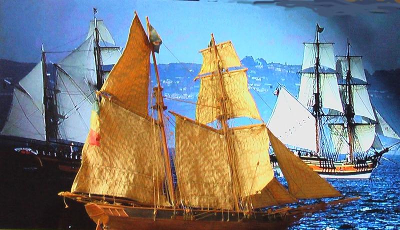 LA TOULONNAISE, goelette de 1823 au 1/75 par parellum, sous voiles, et photos Musée de la Marine Voilie10