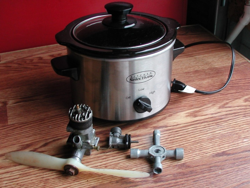Cleaning engines crock pot style Crocks13