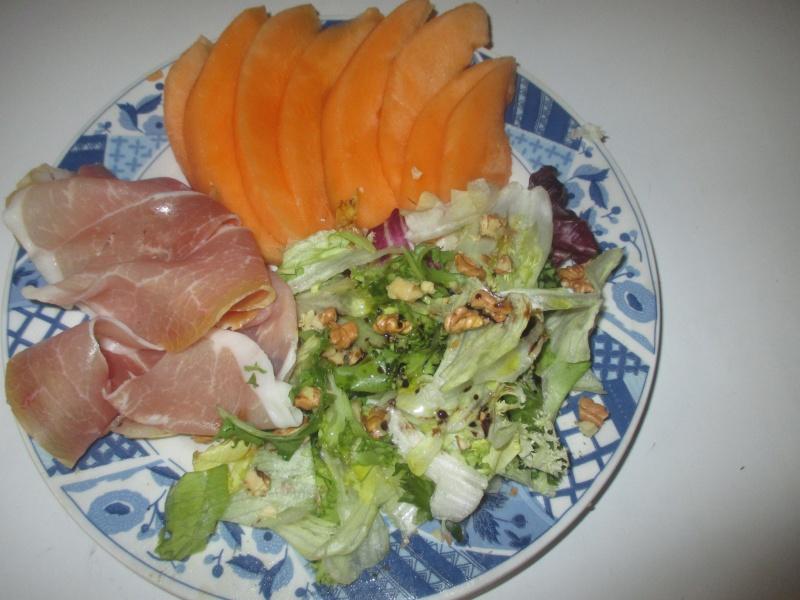 Melon au Parme et mesclun (avec photo) Melon_11