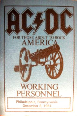 """1981 / 1982 - For those about to rock """"World Tour"""" 126"""