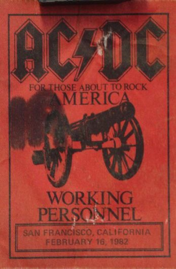 """1981 / 1982 - For those about to rock """"World Tour"""" 128"""