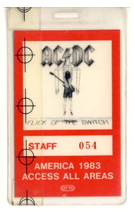 "1983 - Flick of the switch ""North American Tour"" 130"