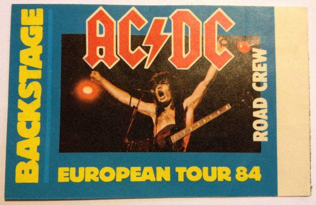 "1984 - Flick of the switch ""European Tour"" 131"