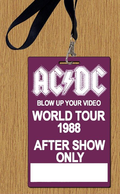 """1988 - Blow up your video """"World Tour"""" 134"""