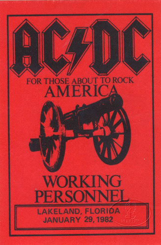 """1981 / 1982 - For those about to rock """"World Tour"""" 229"""