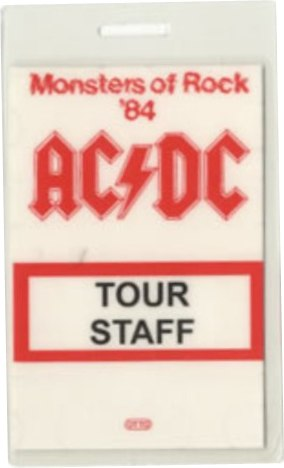 "1984 - Flick of the switch ""European Tour"" 233"