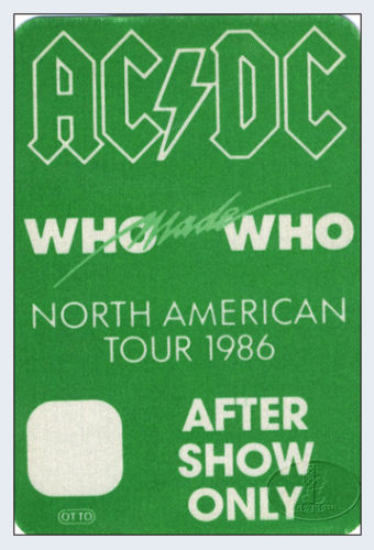 """1986 - Who made who """"North American Tour"""" 235"""