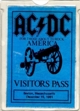 """1981 / 1982 - For those about to rock """"World Tour"""" 326"""