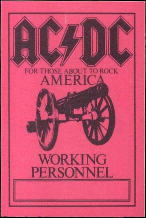 """1981 / 1982 - For those about to rock """"World Tour"""" 327"""