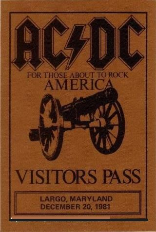 """1981 / 1982 - For those about to rock """"World Tour"""" 423"""
