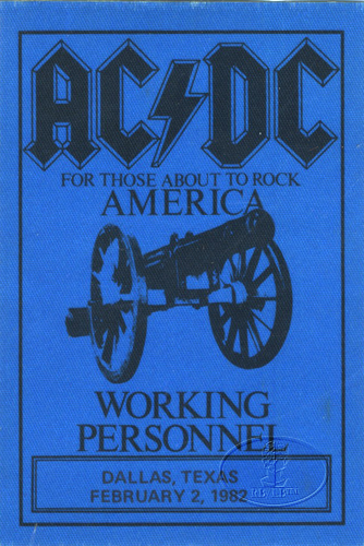"""1981 / 1982 - For those about to rock """"World Tour"""" 424"""