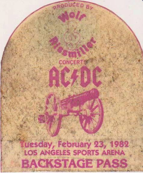 """1981 / 1982 - For those about to rock """"World Tour"""" 425"""