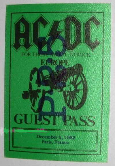 """1981 / 1982 - For those about to rock """"World Tour"""" 527"""