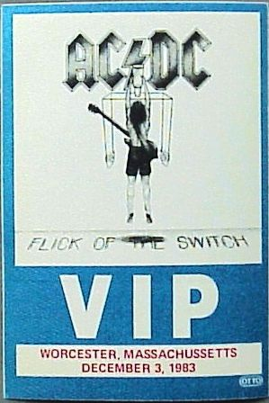 "1983 - Flick of the switch ""North American Tour"" 719"