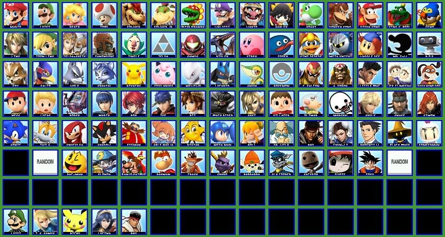 Your Ideal Smash Bros Roster Rost11