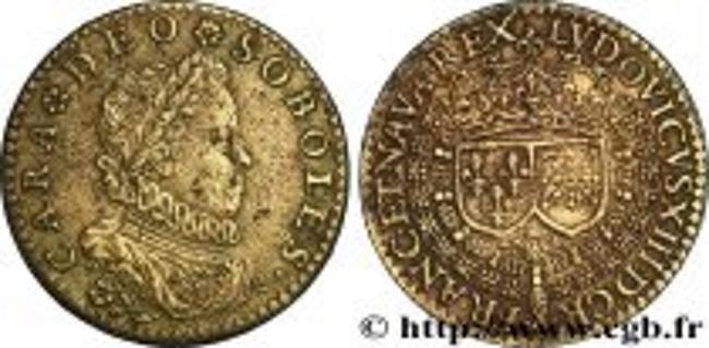 Louis XIII jeton (dommage l'état...) Fjt_2410