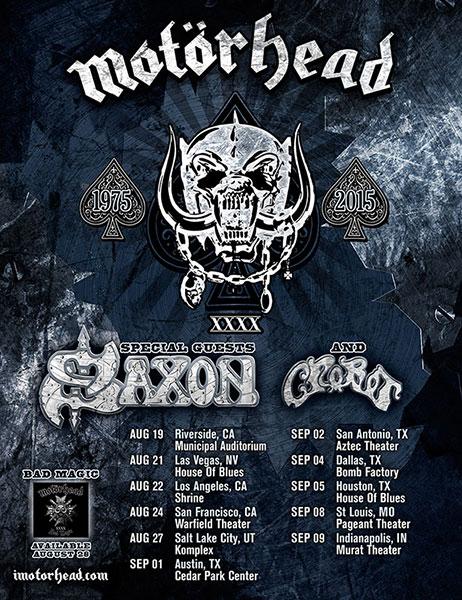 Motörhead / Saxon / Girlschool, European Winter 2015 Motorh10