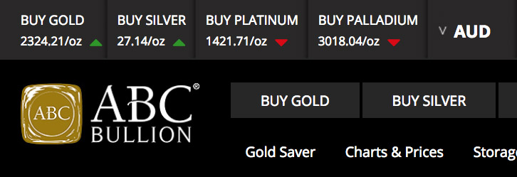 Price of gold today peaked at AUD $2350.79 Screen27
