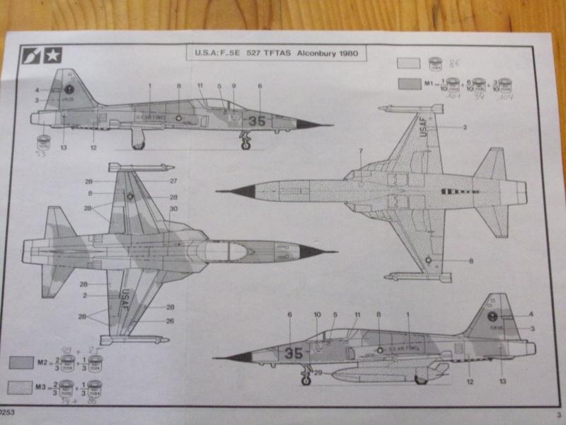 NORTHROP F-5E TIGER II   1/72éme Réf 80253 Notice 100_0075