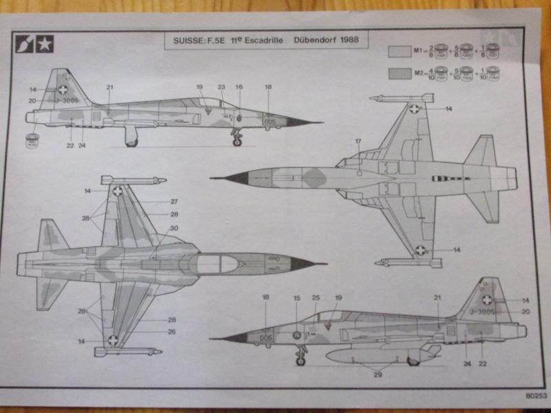 NORTHROP F-5E TIGER II   1/72éme Réf 80253 Notice 100_0076