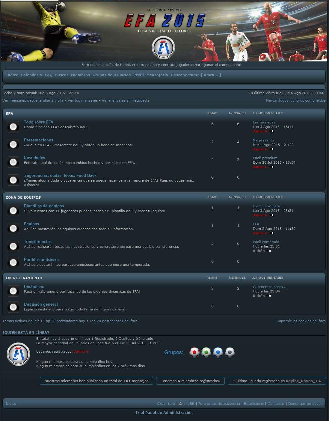 EFA - Liga virtual de futbol Foro10