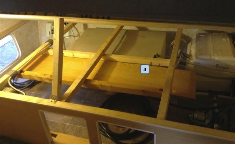 Max 21, sous le lit, Rangement du cable 30 amp. Chcabl14