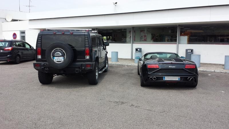 Hummer H2 vs Lamborghini Galardo Spider Hummer12