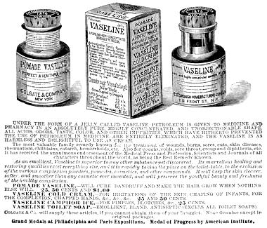vaseline chesbrough manufacturing company 1881-v10