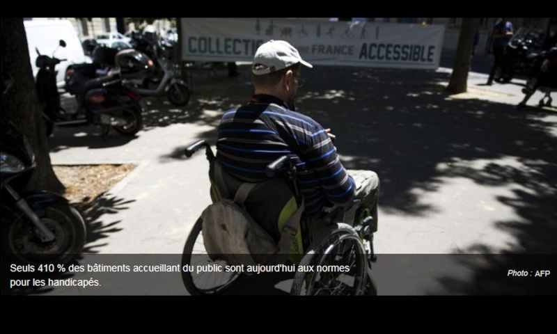 Handicapés : l'accessibilité aux lieux publics va devoir attendre 322