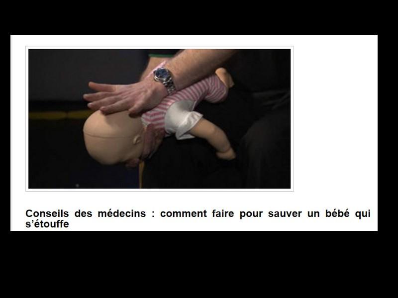 Conseils des médecins : comment faire pour sauver un bébé qui s'étouffe  Sans_238