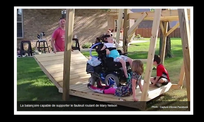 La belle histoire du jour : il construit une balançoire géante pour sa fille en fauteuil roulant Sans_435